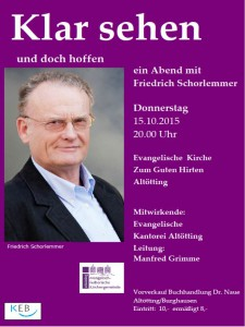Plakat Schorlemmer